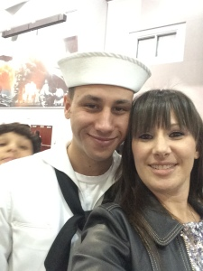 Me and my son at his Bootcamp Graduation.